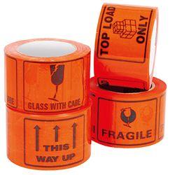 Printed Tape Labels FRAGILE  500/RL