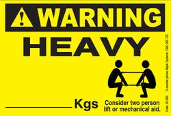 HEAVY GOODS LABELS