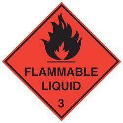 Labels FLAMMABLE LIQUID 3 100x100mm (500)
