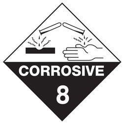 Labels CORROSIVE 8 100x100mm (500)