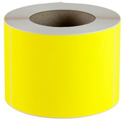 Plain Label 100x150mm Fluoro Yellow 500/RL