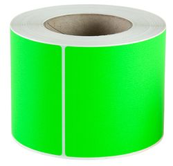 Plain Label 100x150mm Fluoro Green 500/RL