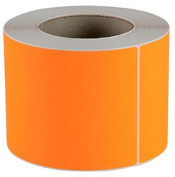 Plain Label 100x150mm Fluoro Orange 500/RL