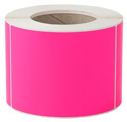 Plain Label 100x150mm Fluoro Pink 500/RL