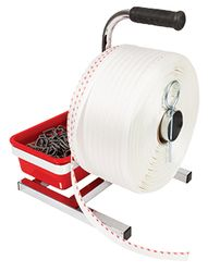 Woven Strapping 1 Red Line 19mmx700m (840kg)