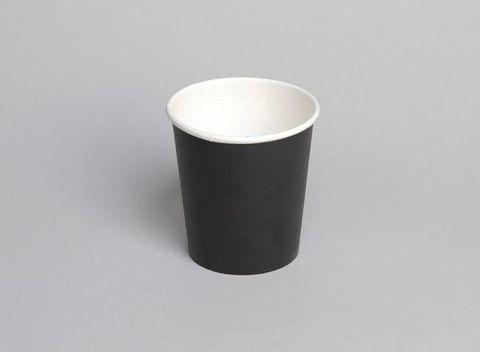 PE 6oz Single Wall Black Cup