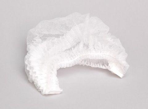 """Disposable Clip Hats White 21"""" - Ctn 1000"""