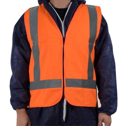 Hi Vis Day / Night Vest Orange Zip Front