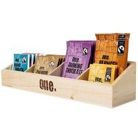 DISPLAY 11 One Fairtrade Wooden Beverage Display Tray