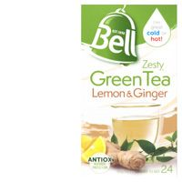 Bell Zesty Green Tea, Lemon & Ginger Teabags
