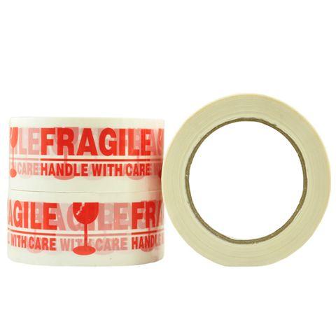 S110 Fragile Tape Red/White 48mm x 100m