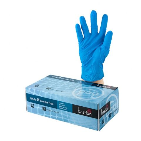Bastion Nitrile Powder Free Gloves - Small