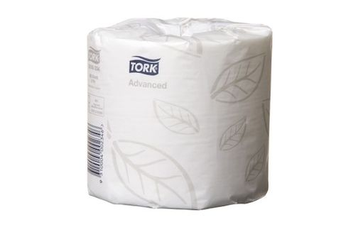 Tork 0000234 Advanced 2 Ply Toilet Tissue Roll T4 - 400 Sheets