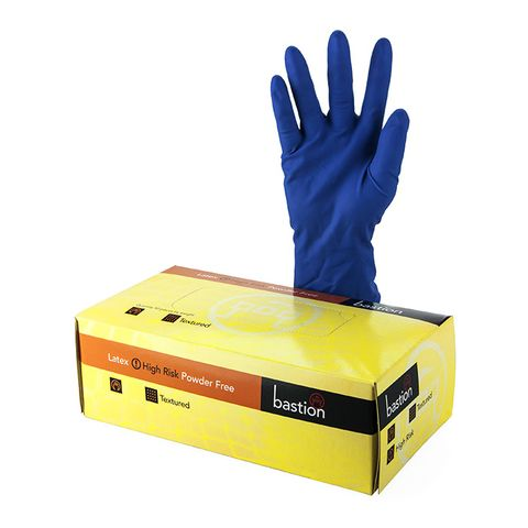 Bastion High Risk Latex Powder Free Gloves - Large