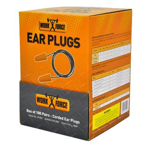 101002 Foam Ear Plugs With Cord