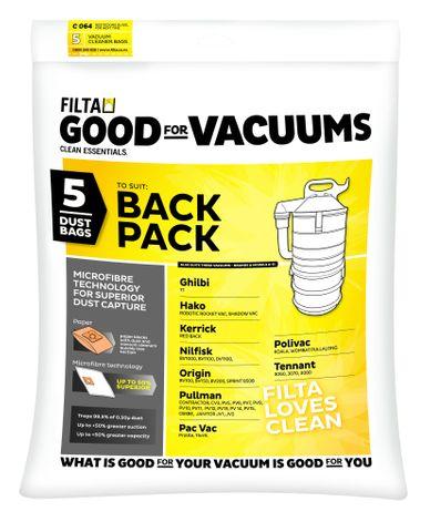R18008 Thrift Back Pack Microfibre Vacuum Bags