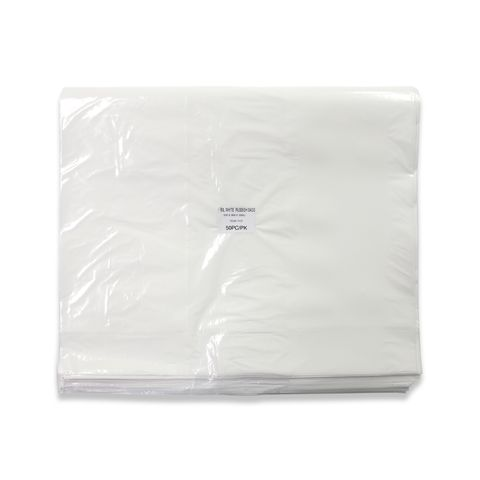 60L White Rubbish Bags - 630x900mmx30Mu