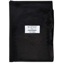 200L Black Rubbish Bags - 890x1330mmx30Mu