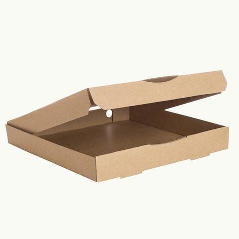 Kraft Pizza Box - 320x330x45mm - Slv 100