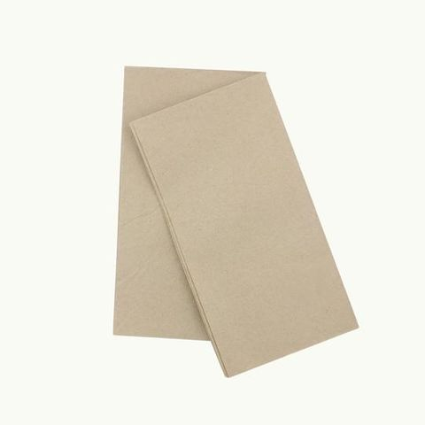 EcoNapkin 8 Fold Quilted Kraft Dinner - Ctn 1000