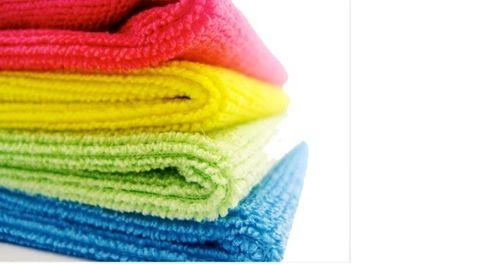 Microfibre Cloths 40cmx40cm - Blue x3, Green x3, Pink x2, Yellow x2
