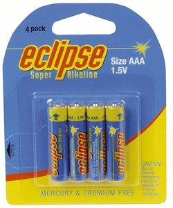 Eclipse Alkaline AAA Batteries