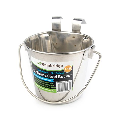 Flat Sided Stainless Buckets