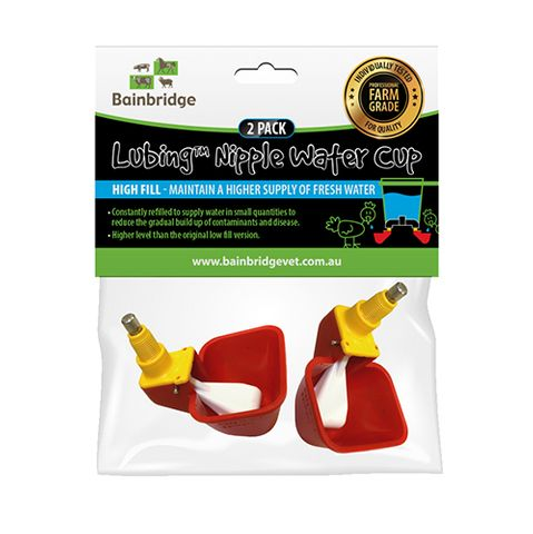NIPPLE LUBING CUP - HIGH FILL 2 PACK