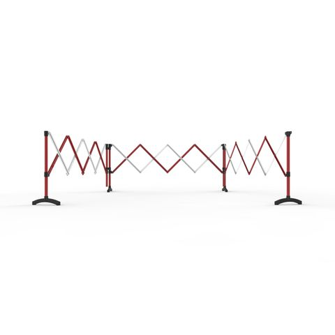 Port-a-Guard Utility Expandable Barrier - 3 x 2.6m - Red/White