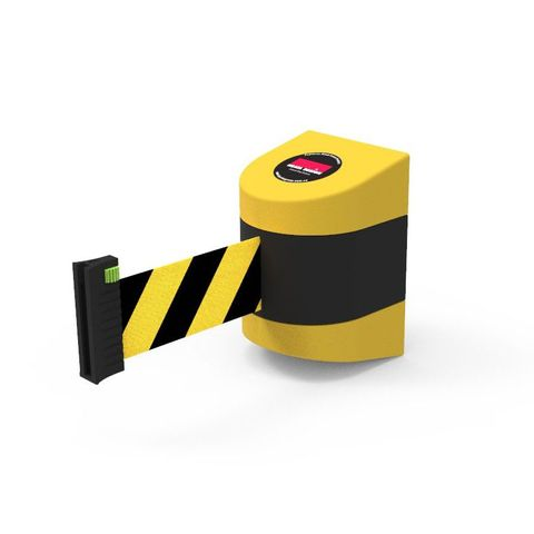 Wall Mount Barrier 5m - PVC - Black/Yellow
