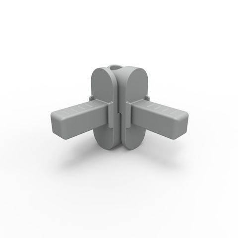 ER-Rail Knuckle Assembly - Powder Coated Aluminium