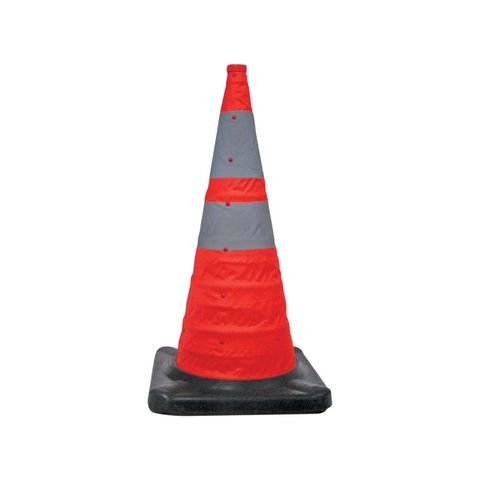 Traffic Cone - 720mm Collapsible - Rubber Base