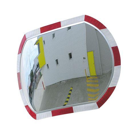 Convex Mirror 440 x 640mm Hi-Viz Roundtangular