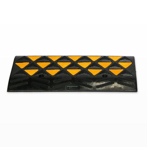 Kerb Ramp Rubber - Black with Reflective