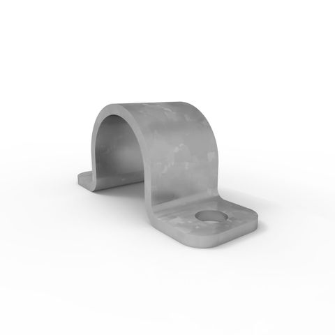 Ball Fence Toe Board Saddle Clamp - Galvanised