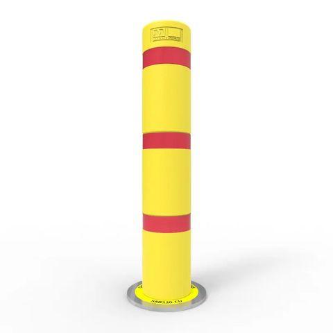 Shock Absorbing Bollard 220mm Core Drilled - Galvanised