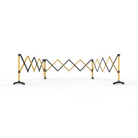 Port-a-Guard Utility Expandable Barrier - 3 x 2.6m - Black/Yellow
