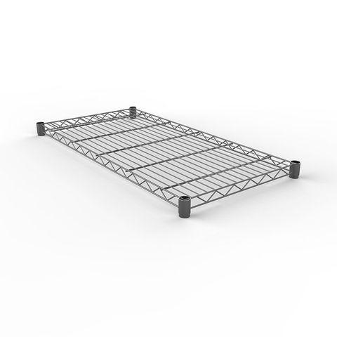 Wire Shelf 355 x 1830mm - Zinc Plated and Clear Epoxy Powder Coat