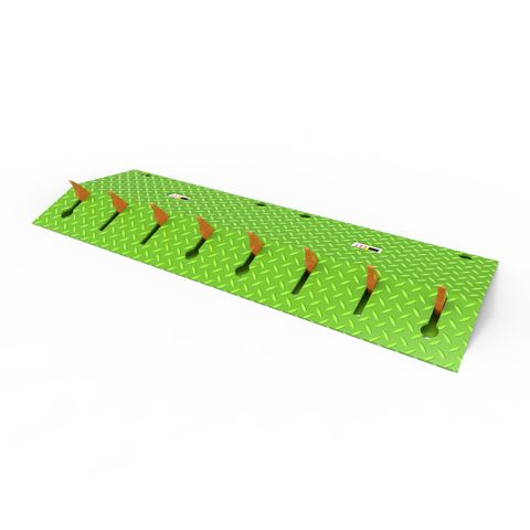 Blade Runner One Way Access Spikes 1m - Powder Coated Green