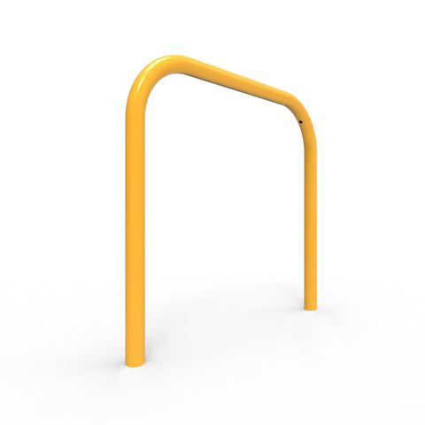 Bike Rail Rounded 850 x 800mm Below Ground - Galvanised and Powder Coated
