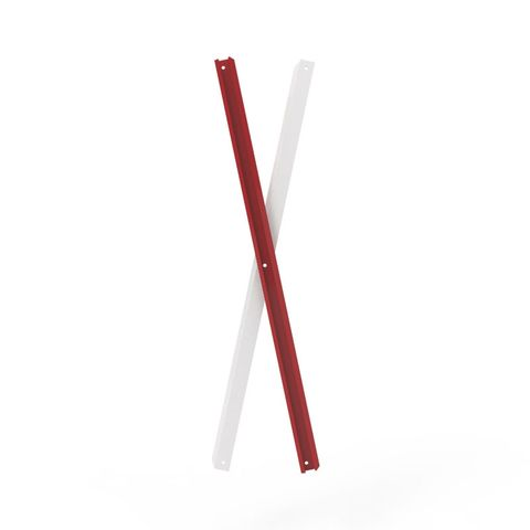 Port-a-Guard Pair of Slats Red/White