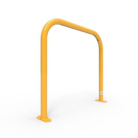 Bike Rail Rounded 850 x 800mm Surface Mounted - Galvanised and Powder Coated