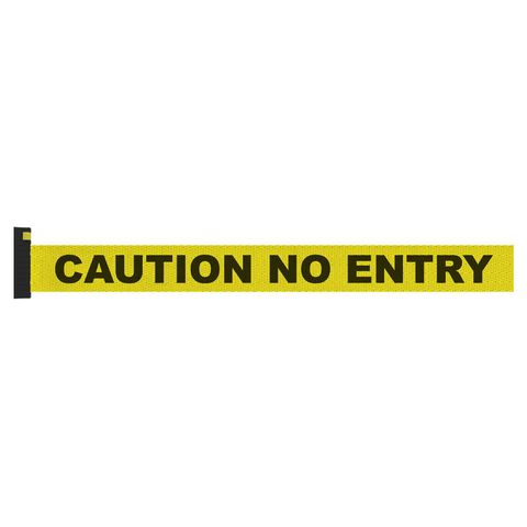 Screen Printed Yellow Belt with Black Print - CAUTION NO ENTRY