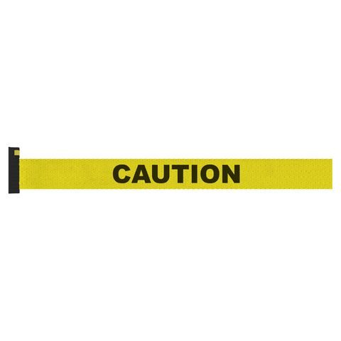 Screen Printed Yellow Belt with Black Print - CAUTION