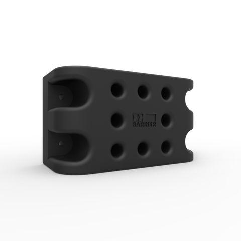 Dock-Safe-Q Panel Receiver - Moulded Rubber Black