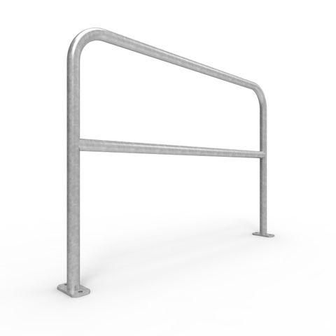 U-Bar Double Rail 1.5m Surface Mounted - Galvanised