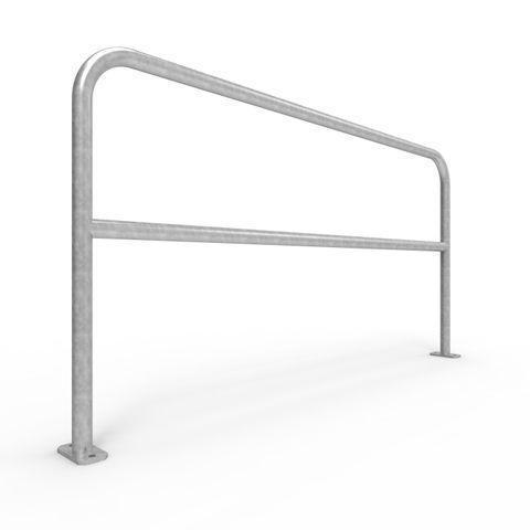 U-Bar Double Rail 2m Surface Mounted - Galvanised