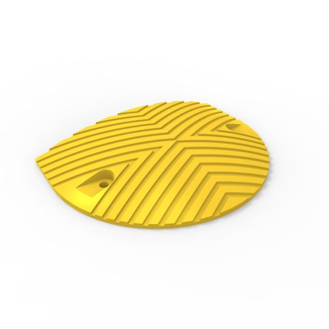 Round Rubber Speed Hump End each - Yellow