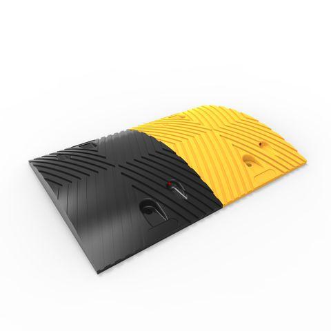 Round Rubber Speed Hump Body 500mm - Black/Yellow