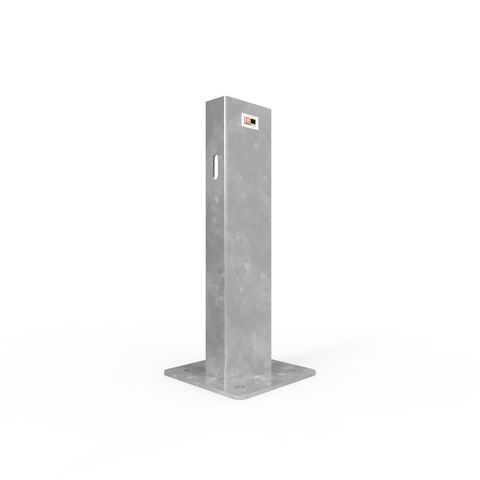 W-Beam Single Height Post 725mm Surface Mounted - Galvanised